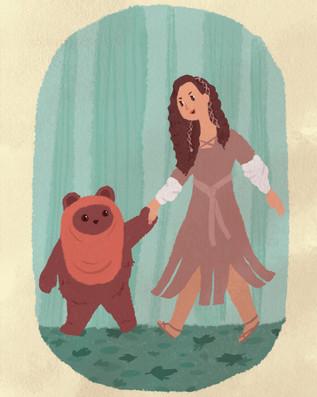 Princess Leia and Wicket