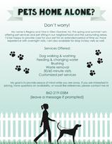 Pet Walking Flyer