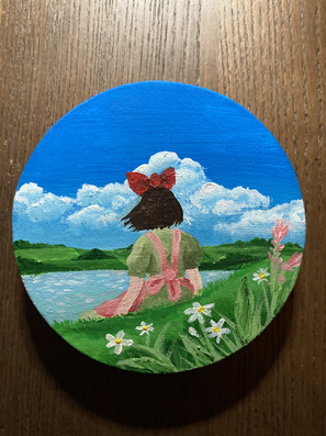 Painting of Kiki, from Kiki's Delivery Service