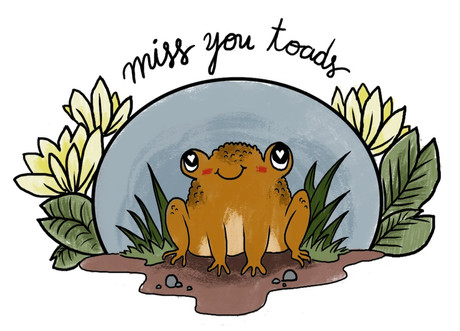 Miss You Toads Greeting Card