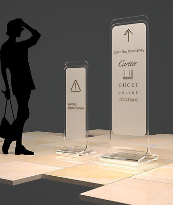 Crystal clear acrylic stand