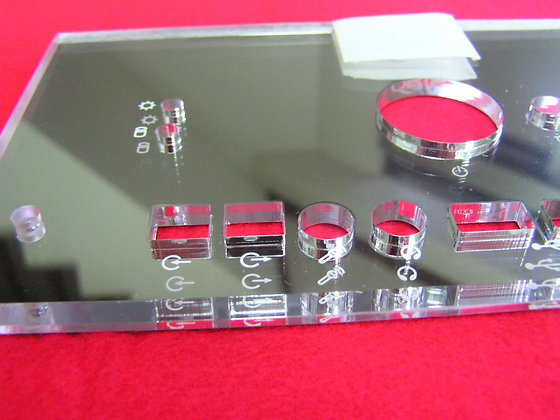 Single matte acrylic mirror