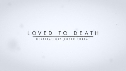 "TITLE DESIGN ""LOVED TO DEATH"""