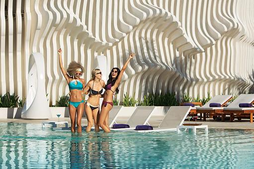 Friends at main pool.jpg