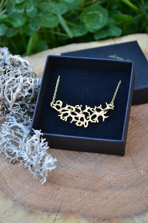Collier Lichen - plaqué or
