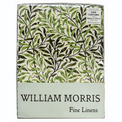 Morris Gallery Willow Bough Green Lined & Unlined Curtains