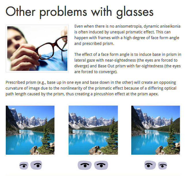 Problems with glasses