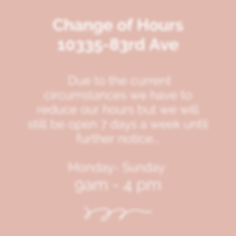 We have to reduce our hours but we will
