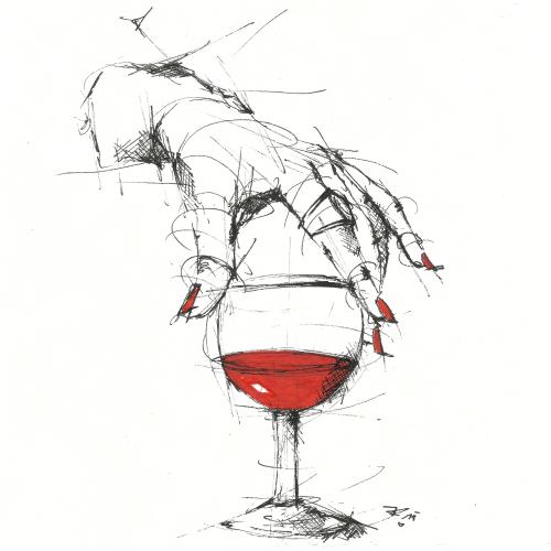 """""""Schade, dass man einen Wein nicht streicheln kann."""" (Kurt Tucholsky)"""