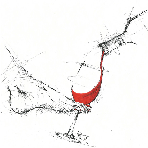 """""""Rotwein her! Um das Herze zu erwärmen, wenn ich trinke will ich schwärmen. Nur von besten Rebenhügel, wächst der Wein zu Lebensflügeln. Was ich wünsche will ich hoffen und beglückt als eingetroffen süße Jugend wiederkehr! ROTWEIN HER!"""" (Johann Wolfgang von Goethe)"""