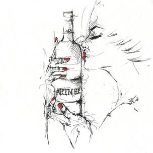 """""""Ein Mädchen und ein Gläschen Wein, sind die Retter in der Not, denn wer nicht trinkt und wer nicht küßt, der ist so gut wie tot."""" (Johann Wolfgang von Goethe)"""