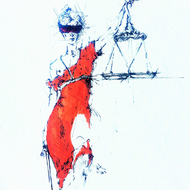 """""""Justitia in suo cuique tribuento cernitur"""" Die Gerechtigkeit erkennt man daran, daß sie jedem das seine zuerteilt. (Marcus Tullius Cicero)"""