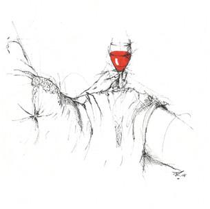 """""""Wein vergoldet jeden Tag Scheucht hinweg des Daseins Plag, Macht die Menschen froh und heiter, Ihren Geist sehr viel gescheiter, Lässt das Leben schön erscheinen, Die Gedanken Gutes meinen, Lässt uns all zu Freunden werden, Friedlich wird es dann auf Erden. Wer den Wein so klug genießt, Freude aus den Sternen liest, Merkt an seines Herzens Schlag: Wein vergoldet jeden Tag"""" (Bacchus)"""