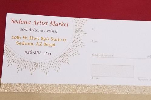 Sedona Artist Market Gift Certificate