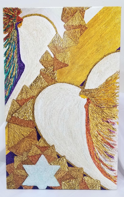 Lemurian Healing Angels Giclee by Myra Schutt