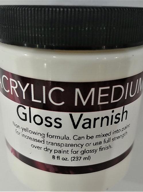 Acrylic Medium- Gloss Varnish 8 fl oz