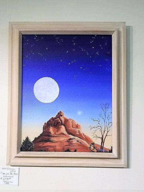 """Moon Over Bell Rock"" Acrylic on Canvas"