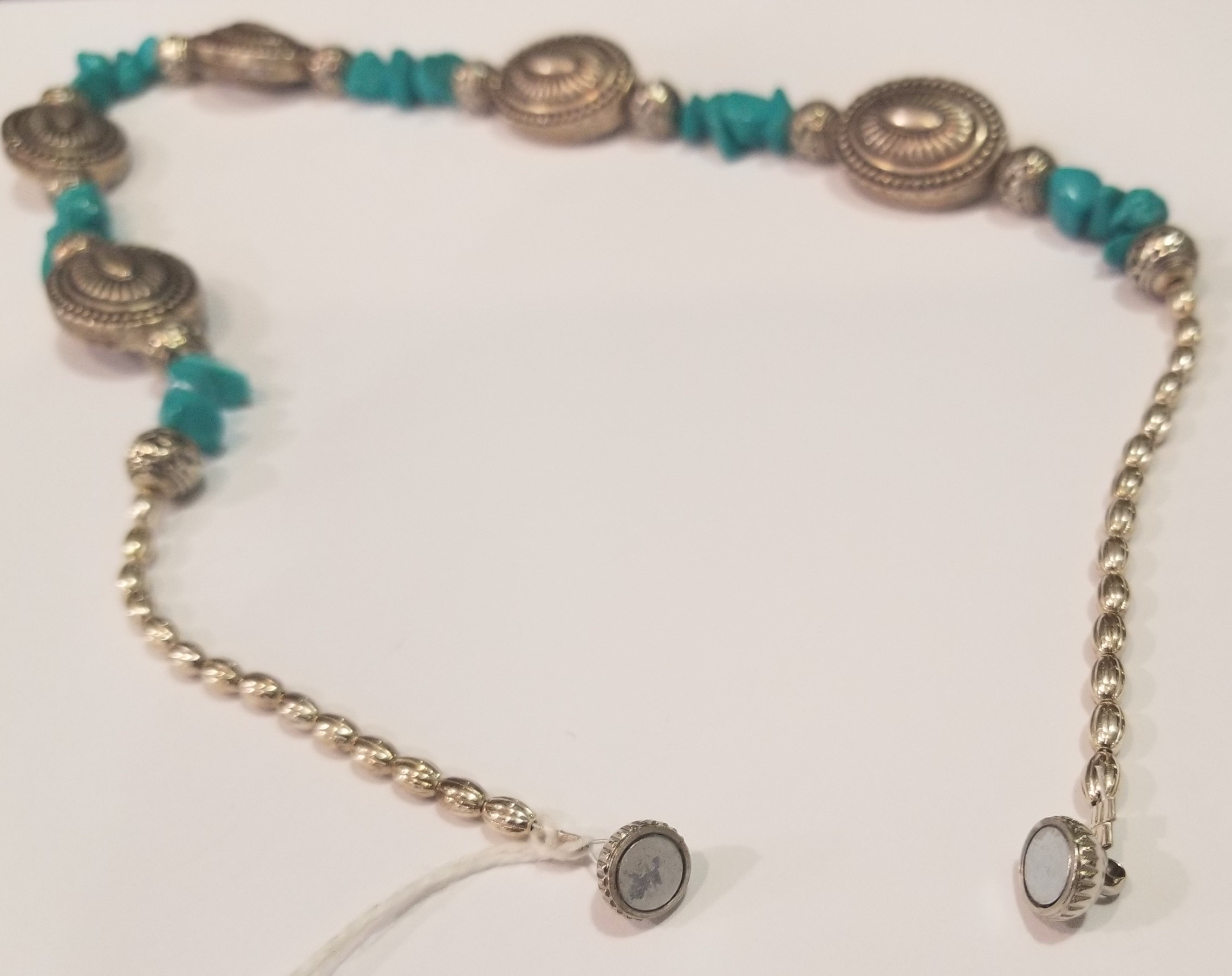 Turquoise and Silver Necklace, by Gary Golden