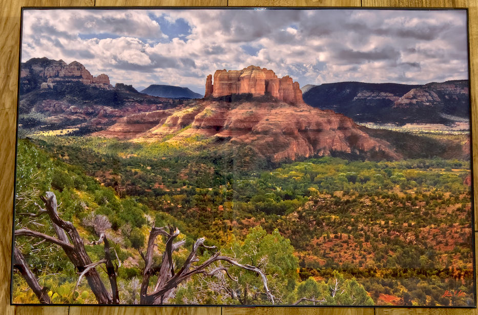 Sedona's Cathedral Rock viewed from the Airport Trail HDR Photograph by Steve Love