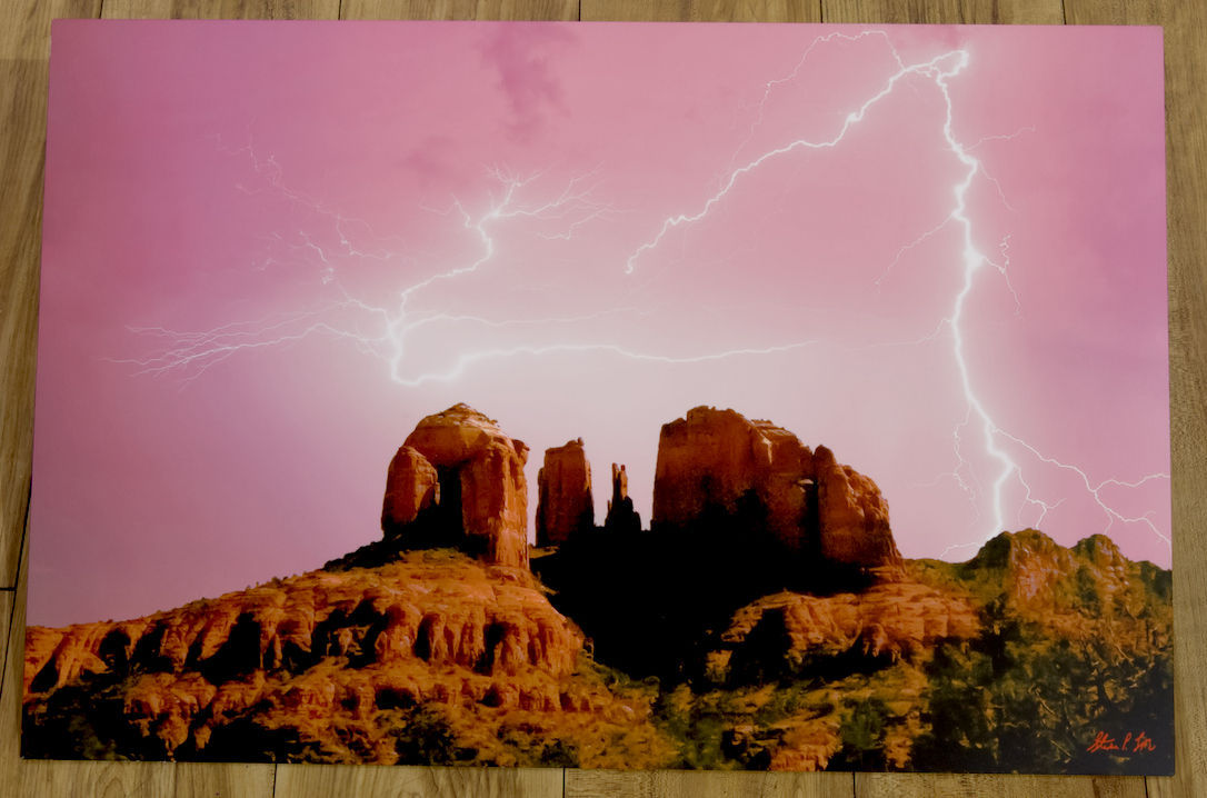 Lightning Storm over Sedona's Red Rock Crossing HDR Photograph by Steve Love