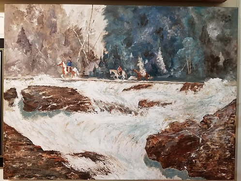 """Indian Stream Crossing"" Original Acrylic"