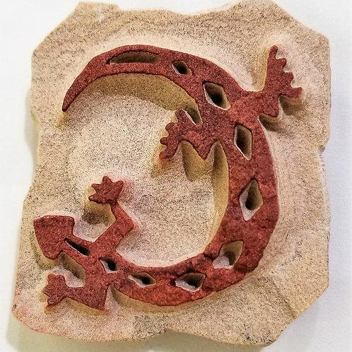 Etched Sandstone Lizard Magnet