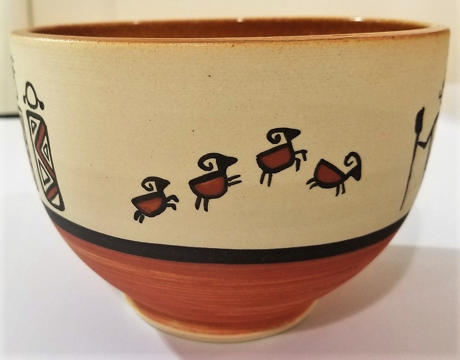 Pueblo-Style Bowl, by Charlie Anderson