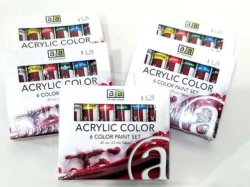 Art Advantage 6-Color Acrylic Paint Set
