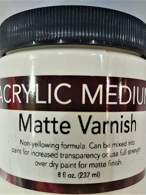 Acrylic Medium-Matte Varnish 8 fl oz