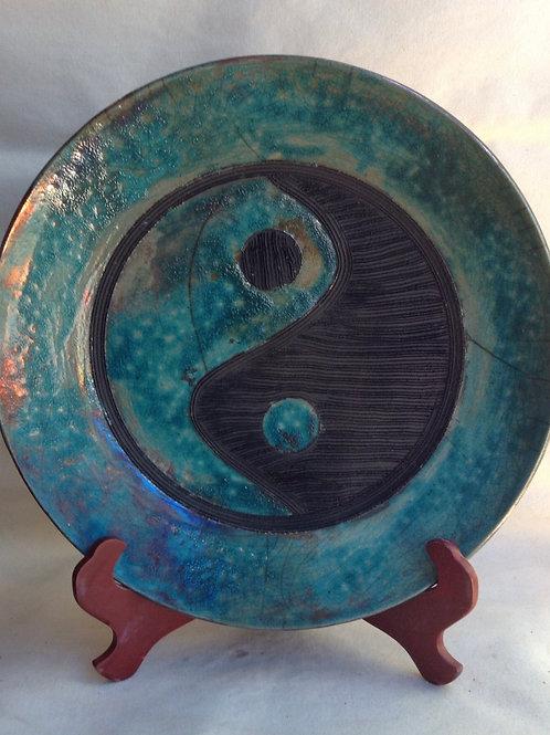 Raku Yin-Yang Plate