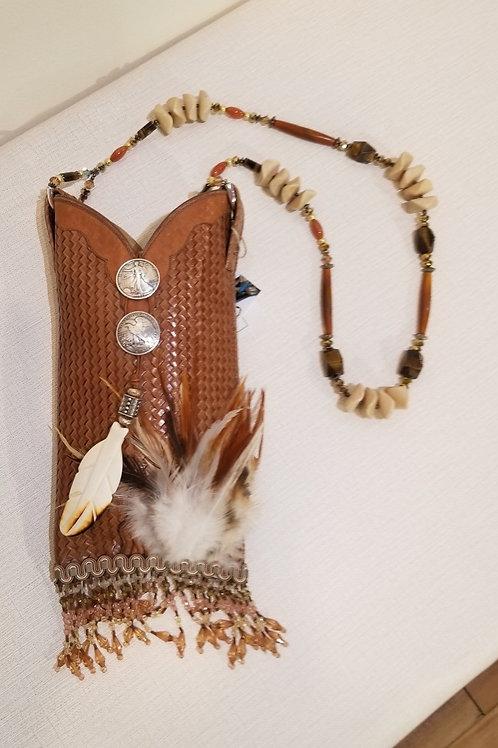 """""""Butterscotch"""" Handmade Cowboy Boot Handbag"""