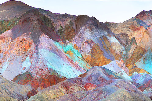 """""""Death Valley Artist Drive"""" 12in x 36inGiclee Print on Canvas"""