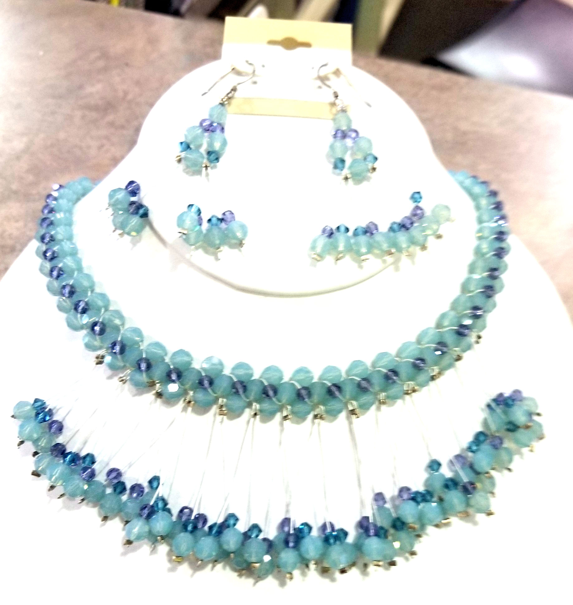Swarovski Necklace and Earring Set, by Adrienne Pritchard