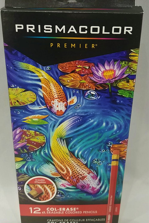 Prismacolor Premier Col-Erase Erasable Colored Pencils 12 qty