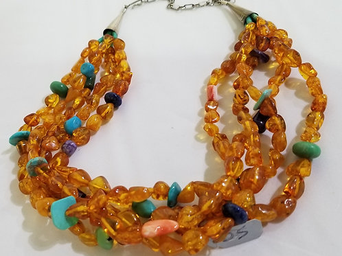 Amber Multi-Stone Necklace