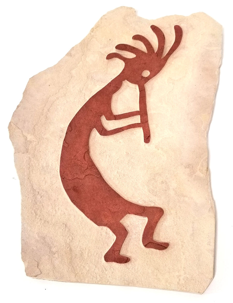 Kokopelli Rock Carving by Jan Floryk
