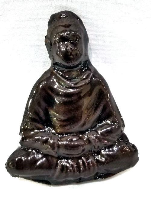 Hanmade Ceramic Buddha Magnet by Brenda Clark