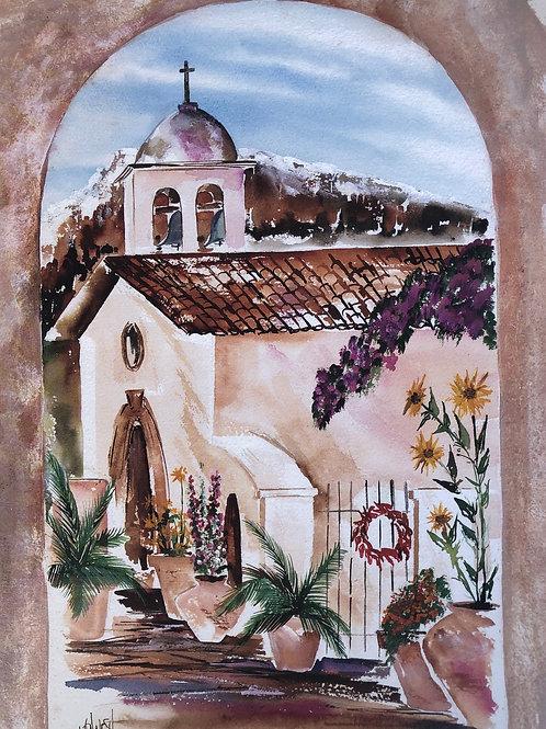 Tlaquepaque Village Chapel Lithograph