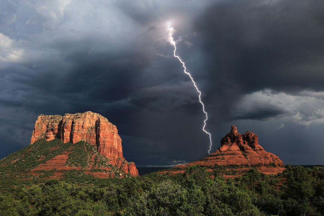 Storm over Bell Rock & Courthouse Butte, Sedona, by Mike Koopsen