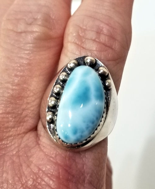 Larimar Ring by Gary James