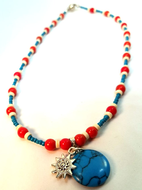 Southwest Turquise Howlite Necklace