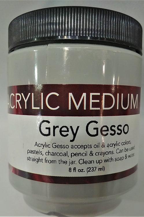 Acrylic Medium- Grey Gesso 8 fl oz