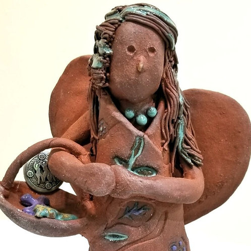 Ceramic Angel with Basket