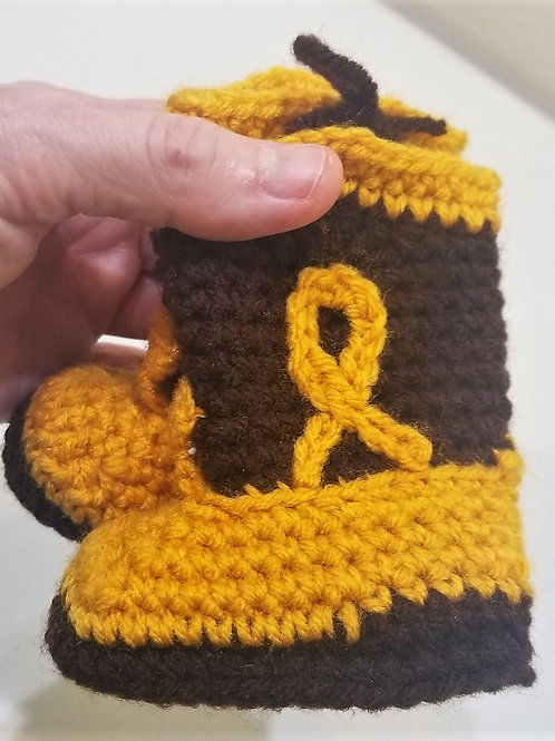 Hand-Knitted Baby Booties