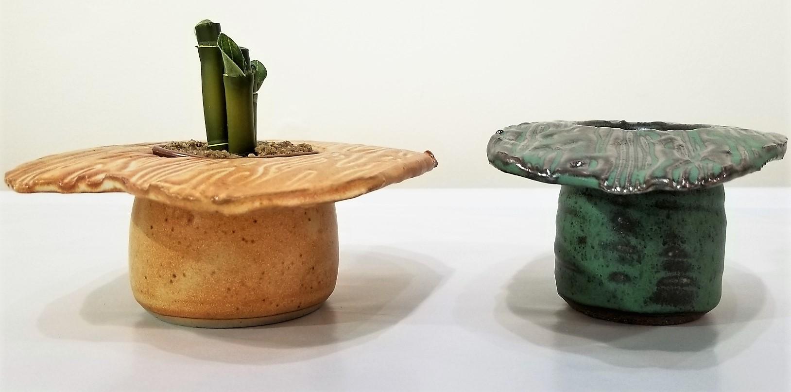 Handmade Ceramic Ikebana Planters by Ken Barnes