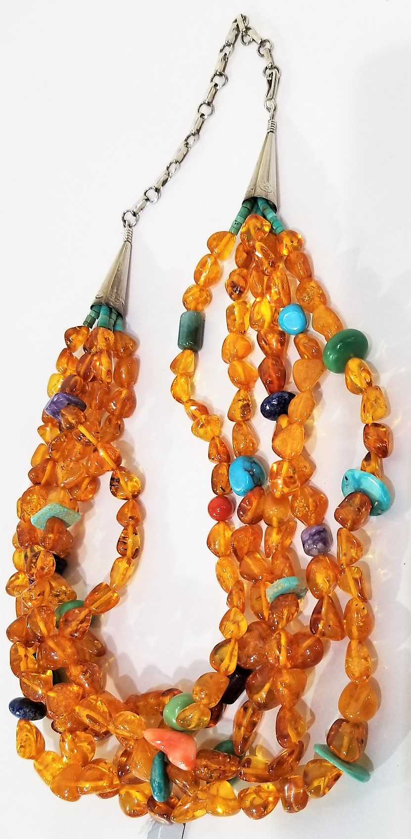 Amber Necklace, Mary Navajo