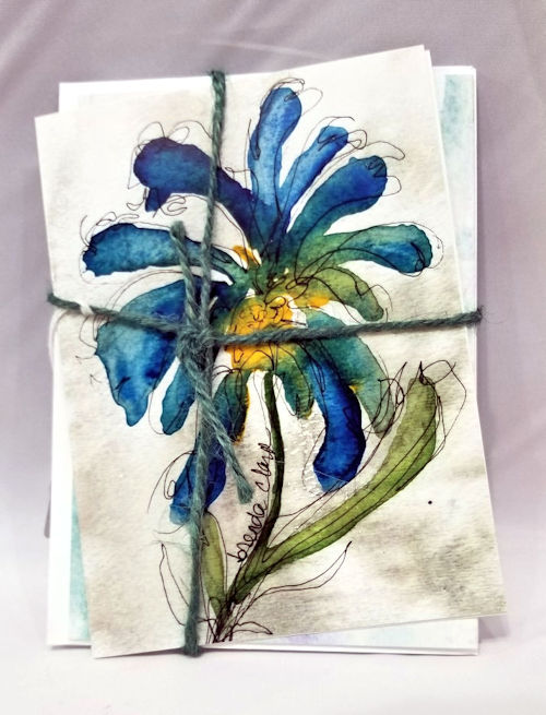 Hand-Painted Card Pack by Brenda Clark