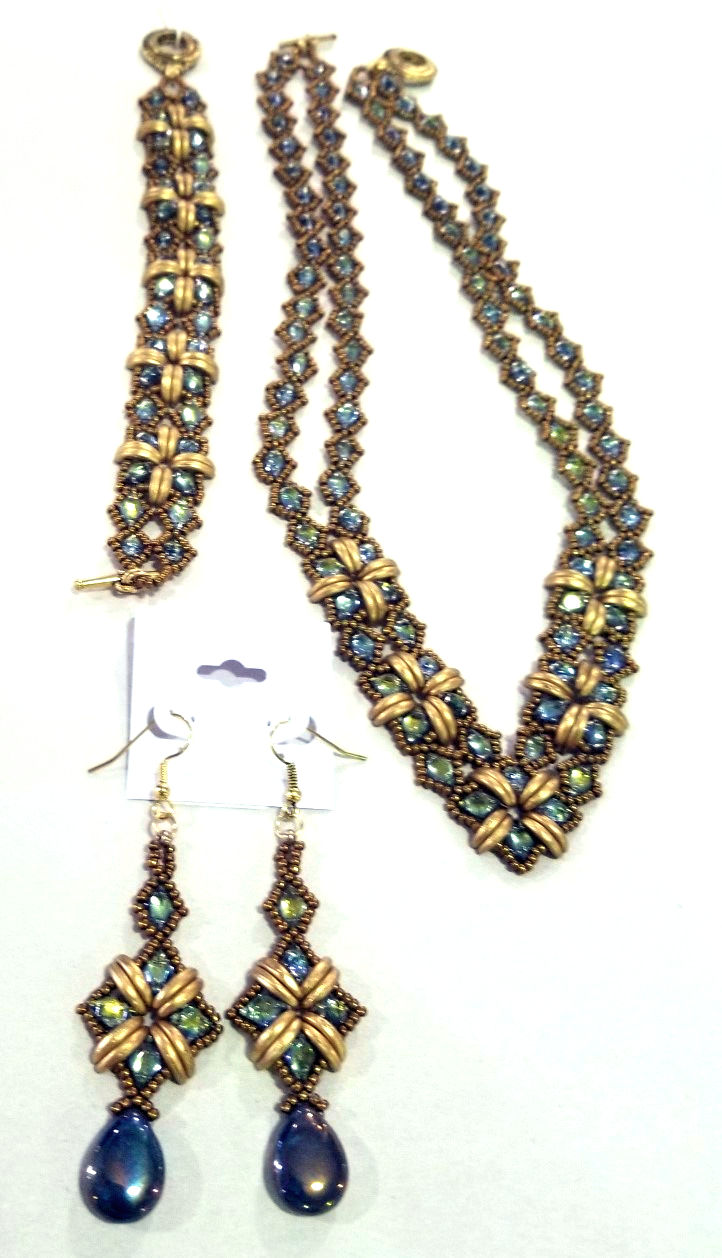 So Sassy Necklace, Bracelet, and Earrings Set, by Adrienne Pritchard