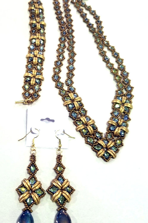 """So Sassy""  Necklace, Bracelet, and Earring Set"