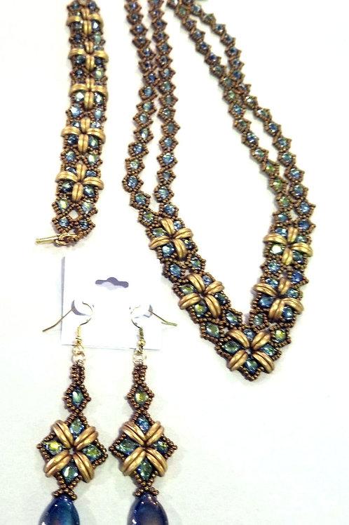 """So Sassy""  Necklace, Bracelet, and Earring Set"
